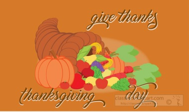 Give Thanks Thanksgiving Day Clipart